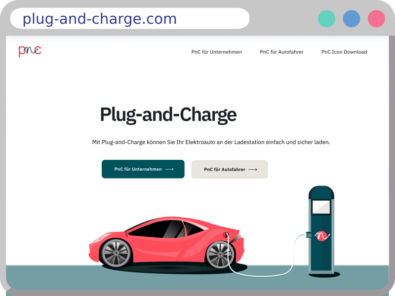 Screenshot of plug-and-charge.com